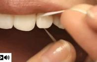 Como usar fio dental (demonstração na boca)